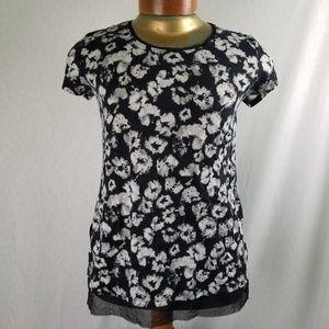 Simply Vera Vera Wang floral shirt M